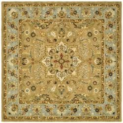 Safavieh Handmade Classic Heirloom Beige Wool Rug (8' Square)
