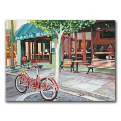 Colleen Proppe 'Coffee Shop' Canvas Art - Thumbnail 1