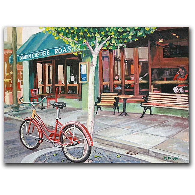 Colleen Proppe 'Coffee Shop' Canvas Art