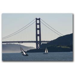 Colleen Proppe 'Golden Gate Sailing' Gallery-wrapped Canvas Art