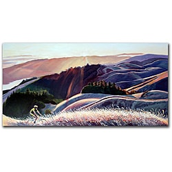 Colleen Proppe 'Sunset Cyclist' Gallery-wrapped Canvas Art