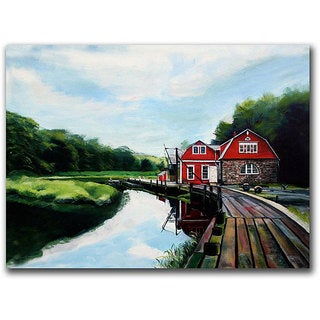 Colleen Proppe 'The Boathouse' Gallery-wrapped Canvas Art