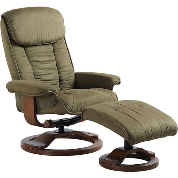 Comfort Chairs Sage Microfiber Swivel Recliner Free