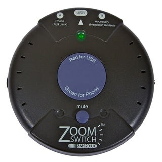 ZoomSwitch ZMS20-UC Headset Adapter for Phone and PC with Vol. and Mu