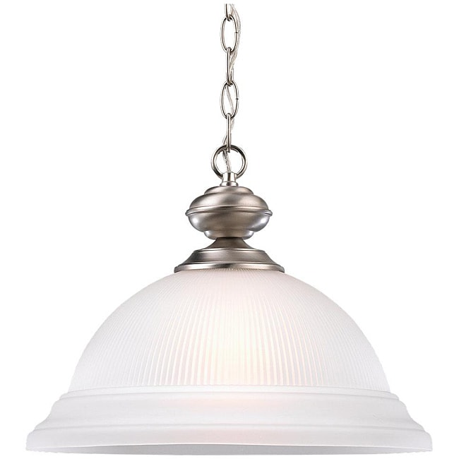 Sea Gull Lighting Mullica Hill 1-light Nickel Pendant
