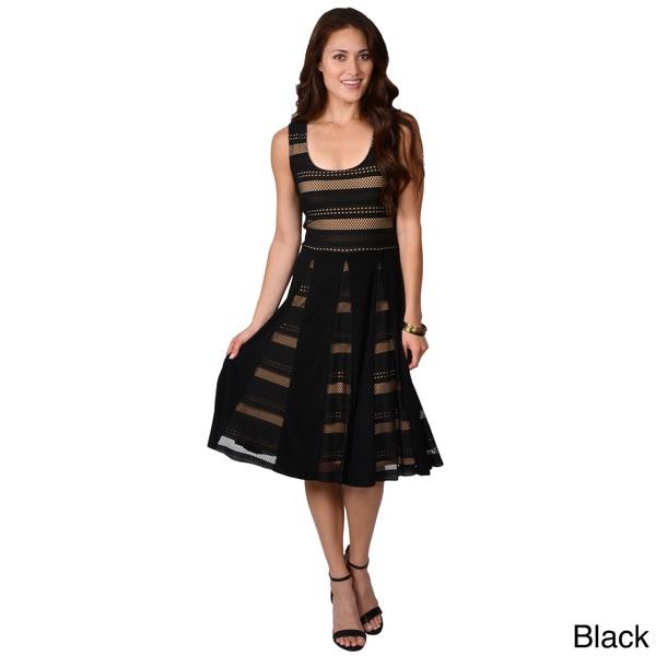 Adi Designs Women's Panel Skirt Sleeveless Dress