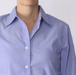 Bill Blass Women's Button-Front Long-Sleeve Collared Shirt