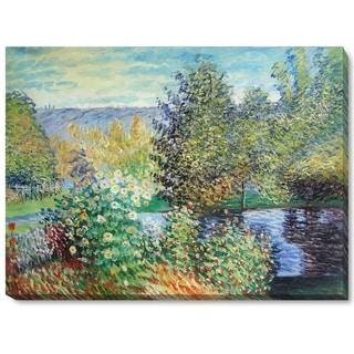 Claude Monet 'Corner of the Garden at Montgeron' Canvas Art