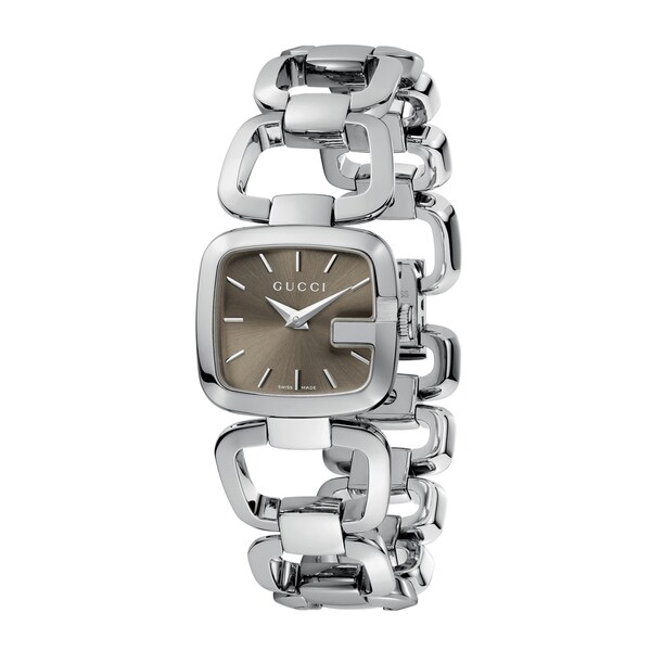 375332e92ee Shop Gucci Women s YA125507  G-Gucci  Small Stainless Steel Bracelet Watch  - Free Shipping Today - Overstock - 5132015