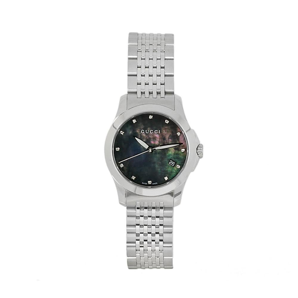 41d9514fbb6 Shop Gucci Women s Timeless Stainless Steel Diamond Watch - Free Shipping  Today - Overstock - 5132020