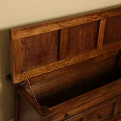 Wooden 'Emily' Bedstool Storage Trunk (Indonesia)