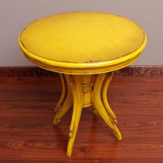 Handmade Kalepso Wood Circular Table (Indonesia)