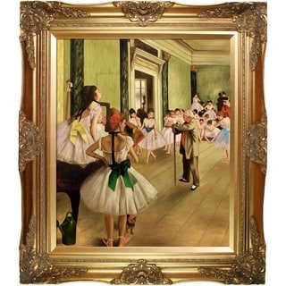 Edgar Degas 'The Dance Class' Canvas Art