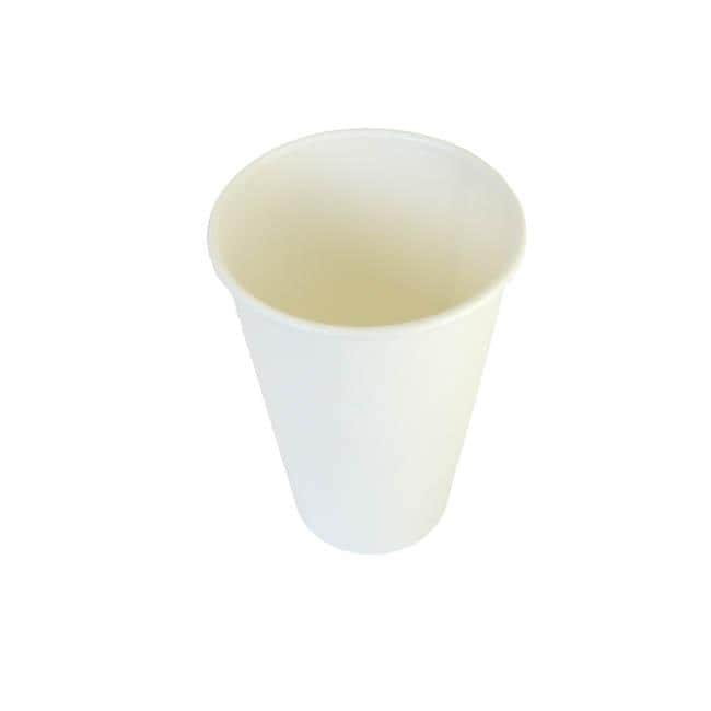 Disposable 12-oz White Hot Coffee Paper Cups (Case of 1000)