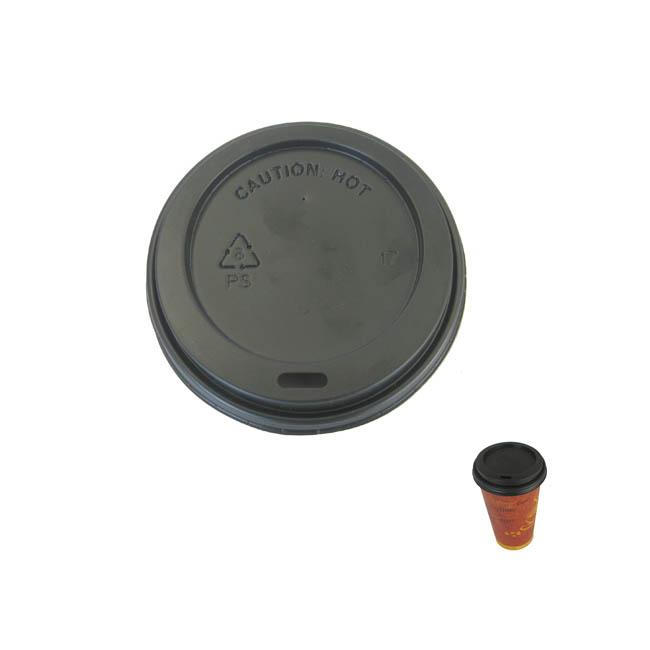 Black Sipper Dome Lids for 12 to 24-oz Hotcups (Case of 1000)