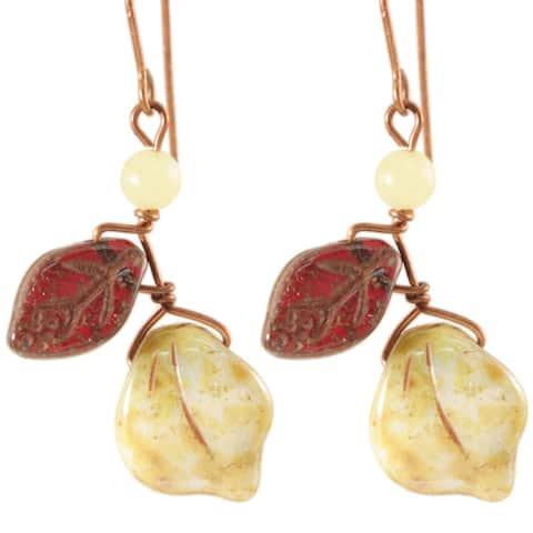 Handmade Copper Vines of Tenacity Serpentine Earrings