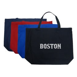 Los Angeles Pop Art Boston Large Shopping Tote