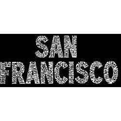 Los Angeles Pop Art Large San Francisco Shopping Tote - Thumbnail 1