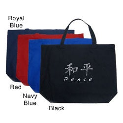 Los Angeles Pop Art Large Chinese Peace Shopping Tote