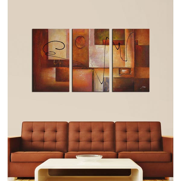 Shop Abstract 11 3 Piece Canvas Art Set Free Shipping