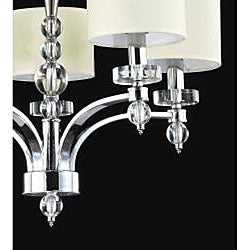 5-light Chrome Chandelier - Thumbnail 1