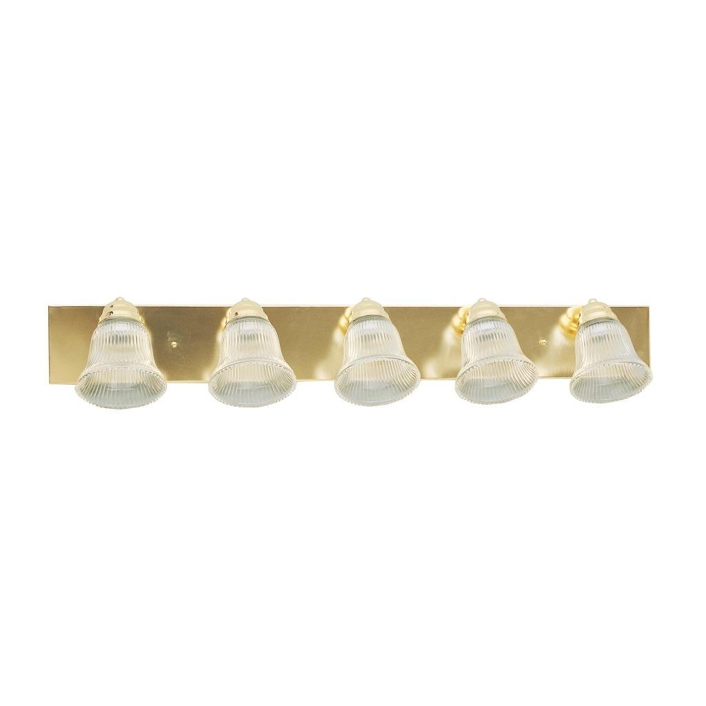 5 Light Polished Brass Bathroom Fixture Free Shipping On Orders Over 45