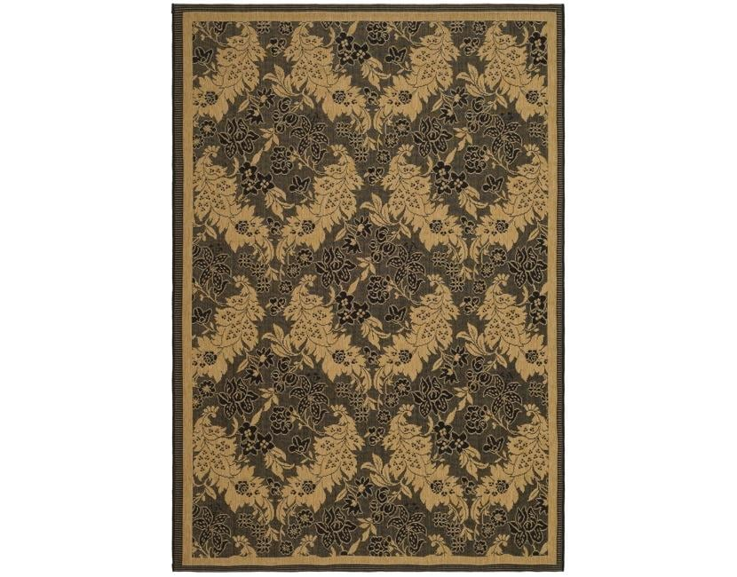 Safavieh Courtyard Divine Black/ Natural Indoor/ Outdoor Rug - 8' X 11'