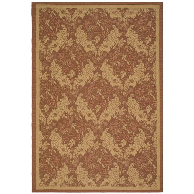 Safavieh Courtyard Divine Red/ Natural Indoor/ Outdoor Rug (4' x 5'7) - Thumbnail 0