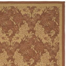 Safavieh Courtyard Divine Red/ Natural Indoor/ Outdoor Rug (4' x 5'7) - Thumbnail 1