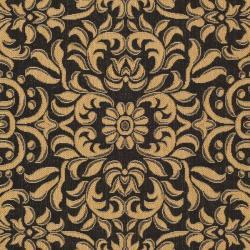 "Safavieh Courtyard Graceful Black/ Natural Indoor/ Outdoor Rug (4' x 5'7"") - Thumbnail 2"