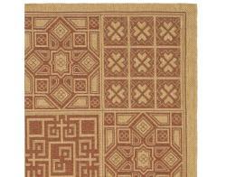 Safavieh Indoor/ Outdoor Natural/ Brick Red Rug (4' x 5'7)