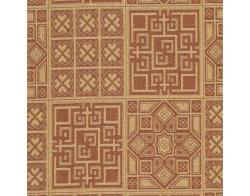 Safavieh Indoor/ Outdoor Natural/ Brick Red Rug (8' x 11') - Thumbnail 2