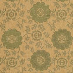 Safavieh Indoor/ Outdoor Natural/Green Area Rug (4' x 5'7) - Thumbnail 2