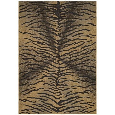 "Safavieh Black/Natural Indoor/Outdoor Animal-Patterned Rug - 2'7"" x 5'"