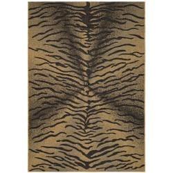 Safavieh Black/Natural Contemporary Indoor/Outdoor Rug (8' x 11')