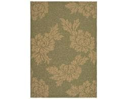 "Safavieh Indoor/Outdoor Green/Natural Area Rug (4' x 5'7"")"