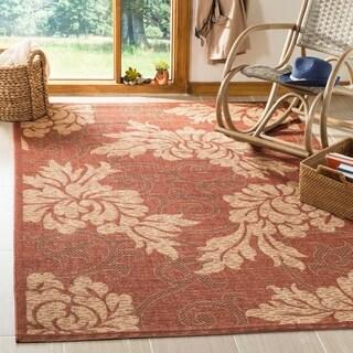 "Safavieh Indoor/Outdoor Brick Red/Natural Polypropylene Rug (5'3"" x 7'7"")"