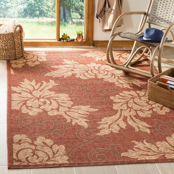 Safavieh Indoor/ Outdoor Brick Red/ Natural Rug - 9' x 12'