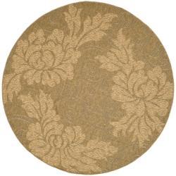 Safavieh Gold/Natural Indoor/Outdoor Contemporary Rug - 6'7 - Thumbnail 0