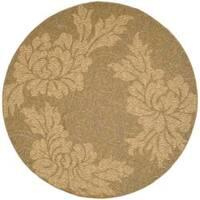 "Safavieh Gold/Natural Indoor/Outdoor Contemporary Rug - 6'7"" x 6'7"" round"