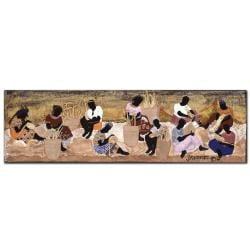 Garner Lewis 'Basket Weavers' Canvas Art - Thumbnail 1