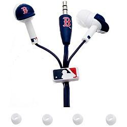 Nemo Digital MLB Boston Red Sox Earbud Headphones with Sculpted Batting Helmet (Pack of 12)