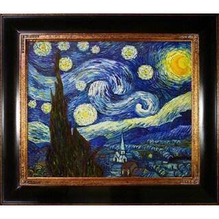 Framed Van Gogh 'Starry Night' Canvas Art
