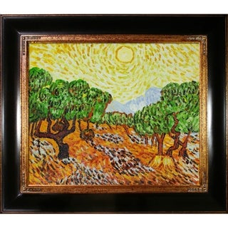 Van Gogh 'Olive Trees with Yellow Sun and Sky' Canvas Art