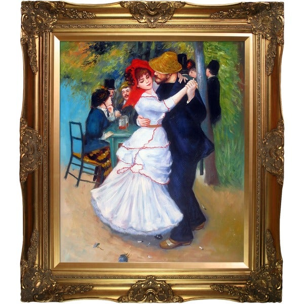 Pierre Auguste Renoir 'Dance at Bougival' Canvas Art