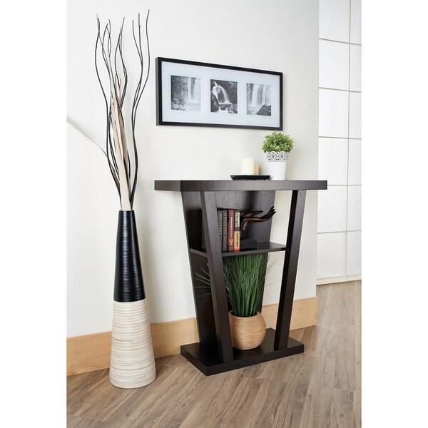 Furniture of America Taree Dark Brown Wood Occasional Table