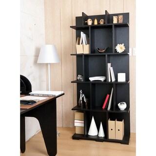 Furniture of America Twain Black Room Divider/ Bookcase