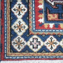 Indo Hand-knotted Kazak Red Wool Rug (3' x 5') - Thumbnail 1