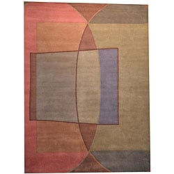 Herat Oriental Indo Hand-tufted Tibetan Multicolor Wool Rug (8' x 11')