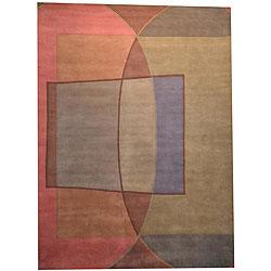 Handmade Herat Oriental Indo Tibetan Wool Rug (India) - 8' x 11'